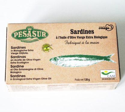 Sardinen in Bio-Olivenöl 120 g